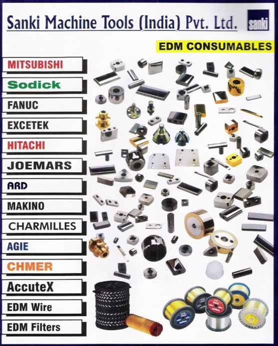 We supply all kinds of EDM CONSUMABLES like Diamond Guide, Nozzles, Carbide contacts, Wire Cut Cables, Graphite plate etc. for SODICK, MAKINO, CHARMILLS, ACCUTEX, FANUC, CHMER, ELECTRONICA etc.